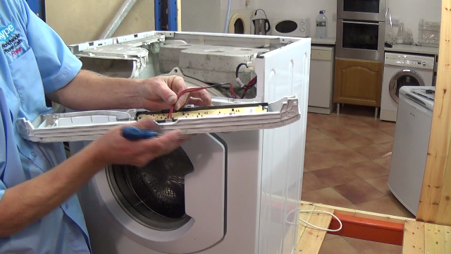 removing washing machine