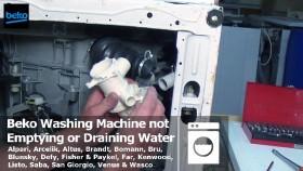 water not draining from washing machine
