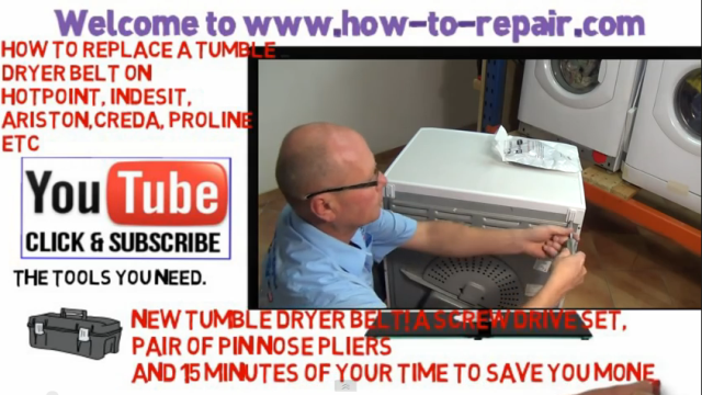 How to replace tumble dryer belt on hotpoint indesit ariston how to replace tumble dryer belt on hotpoint indesit ariston creda proline cheapraybanclubmaster Image collections