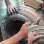 replacing-Aeg-washing-machine-door-gasket