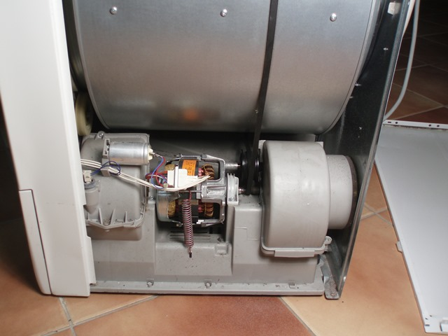 How to replace a belt on a condenser tumble dryer zanussi for Replace dryer motor or buy new