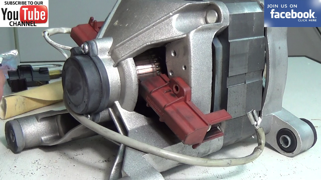 How to replace washing machine motor carbon brushes in a for Washing machine motor repair