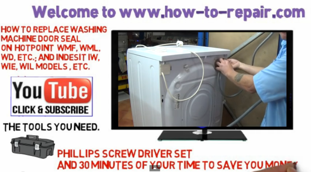 How to replace a washing machine door seal on Hotpoint Indesit Ariston \u0026 Scholtes  sc 1 st  Repair & How to replace a washing machine door seal on Hotpoint Indesit ...