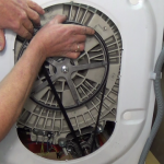 How-to-replace-washing-machine-motor-carbon-brushes-C.E.SET-replacing-belt