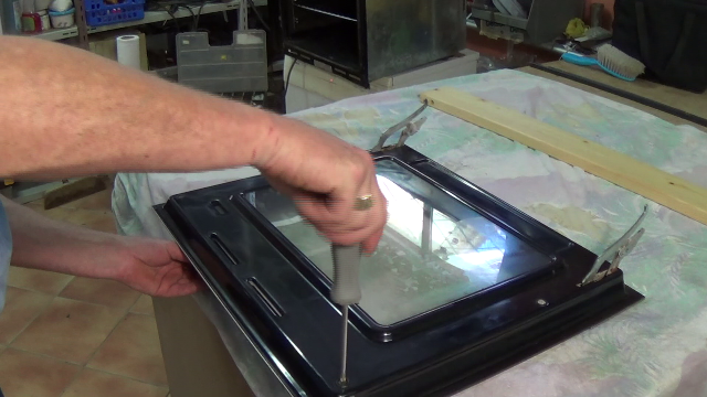 How To Repair A Cooker Door Glass Has Come Loose On The