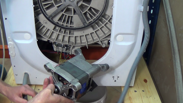 How to replace washing machine motor carbon brushes c e for Washing machine motor repair