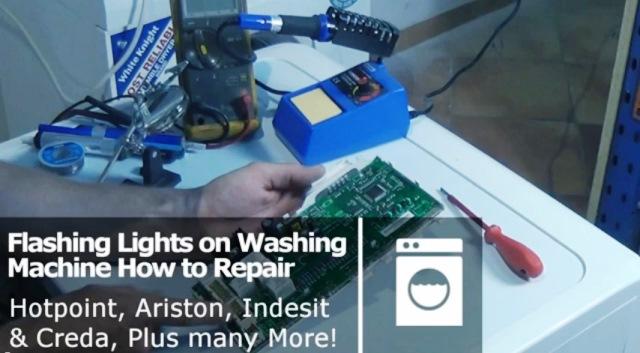 Washing Machine All The Lights Flashing Error Codes On