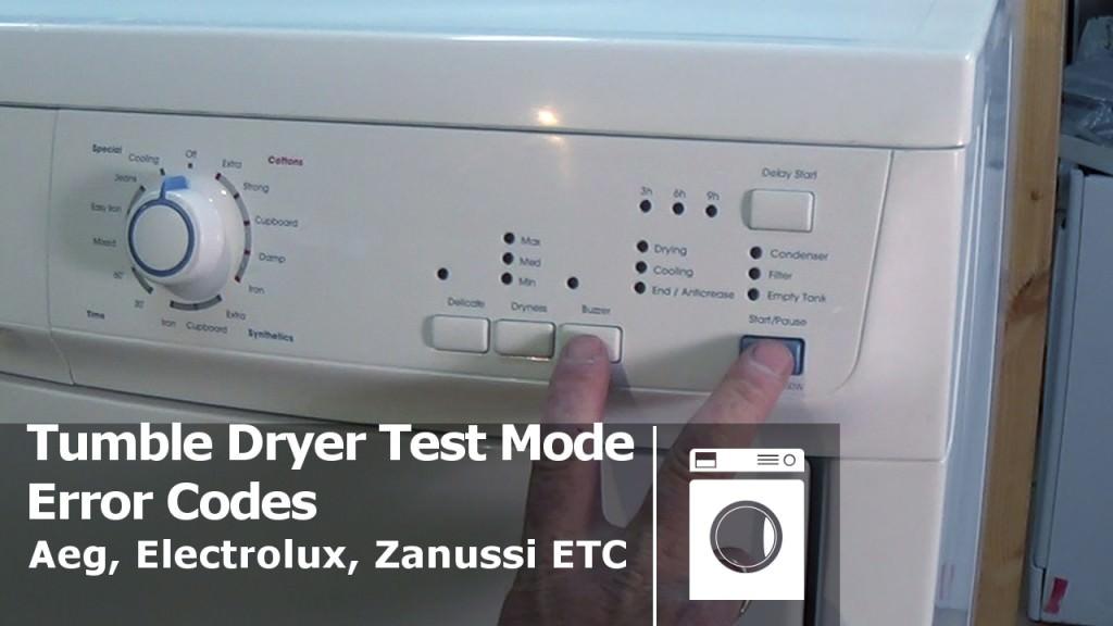 Tumble Dryer Fault Code Errors Aeg Electrolux Zanussi Etc