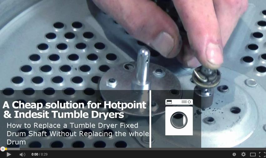 Indesit Tumble Dryer Repair Kit For Riveted Drums with fixed shaft fit video