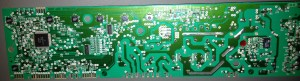 The back of a Printed circuit board  Env 06