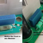 Resistor 47R before and after