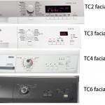 Tumble Dryer facial panel types