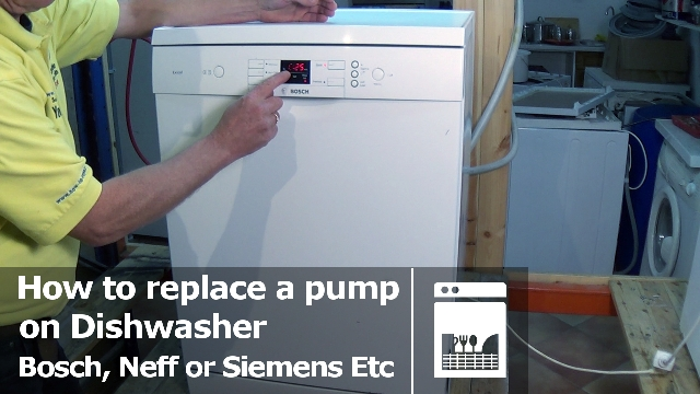 How to replace Dishwasher pump Bosch, Siemens etc