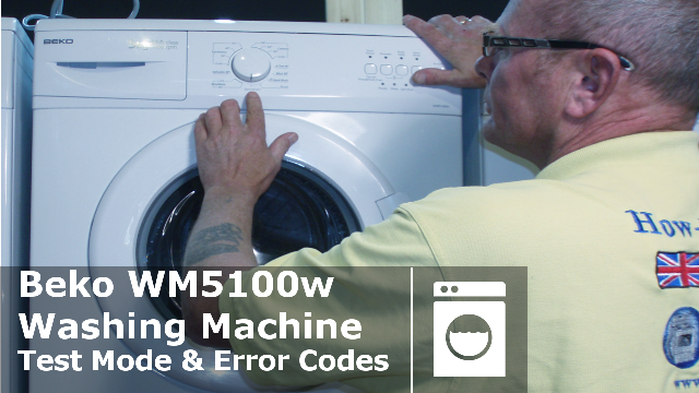 beko wm5100w wm5100s washing machine test mode and error codes rh how to repair com LG Washing Machine Manual Performa Washing Machine Manual