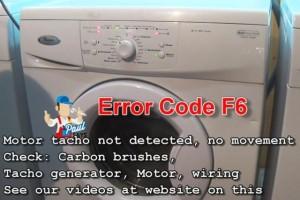 Whirlpool washing machine Error Code F6