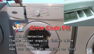 Whirlpool washing machine Error Code FH