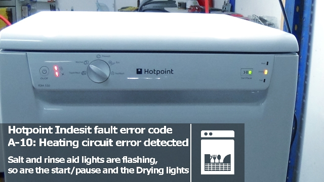 How To Repair Hotpoint Aquarius Fdm Dishwasher Flashing Lights And There Fault Codes