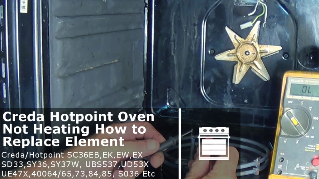 Creda Hotpoint oven not heating how to test element & replace