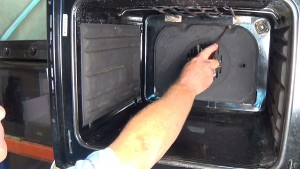 How to remove fan oven element on Prima single ovens