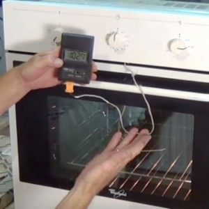 Oven reaching temperature