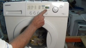 Samsung washing machine 4E error code fault on display