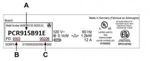Balay Bosch Neff Siemens hob model number