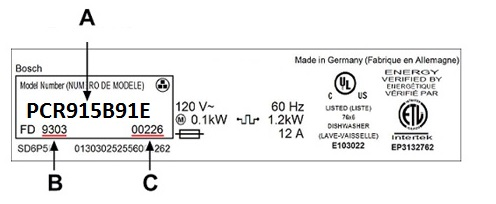 How To Find Your Model Number On Gas Or Electric Hobs