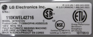 Model and Serial Number Label