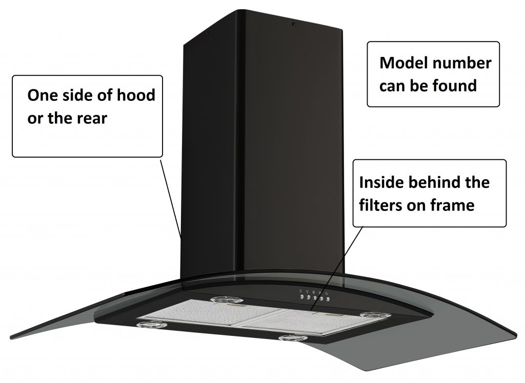 cooker hood extractor model number