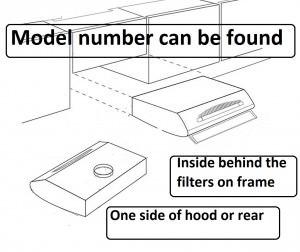 cooker hood model number