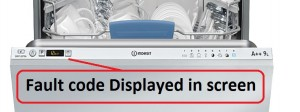 dishwasher error code faults flashing lights
