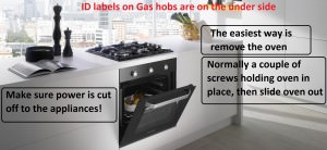finding fitted gas hob model number