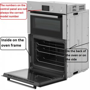 how to find your built in double oven model number
