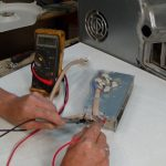 Testing low heat side of heater element