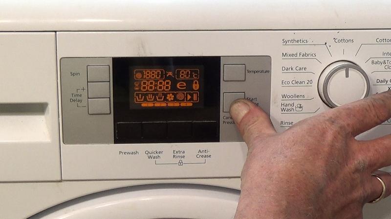 washing machine diagnosis
