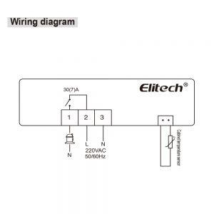 Elitech ECS-16 Digatal Temperature Controller options on wiring
