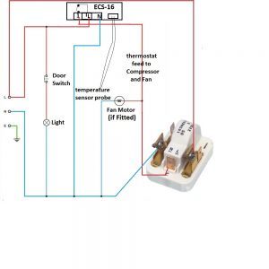 Wiring example on ECS-16  fridge freezer
