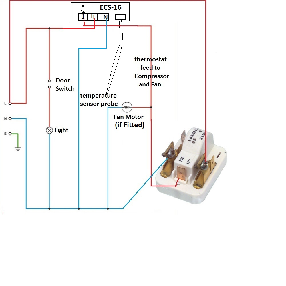 Wiring example on ECS 16 fridge freezer how to replace fridge freezer circuit board with digital fridge freezer thermostat wiring diagram at virtualis.co