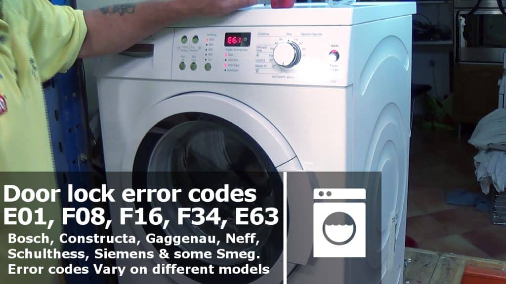 hotpoint electric dryer wiring diagram washing machine door lock error codes e01  f08  f16  f34  e61  washing machine door lock error codes e01  f08  f16  f34  e61