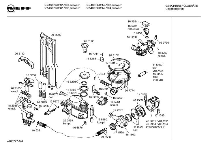 Neff Dishwasher S5443x2 Gb44 04