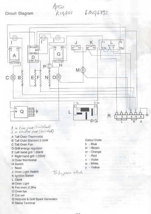 rangemaster 90 dual fuel oven won t operate cannot set auto timer wiring diagram to help