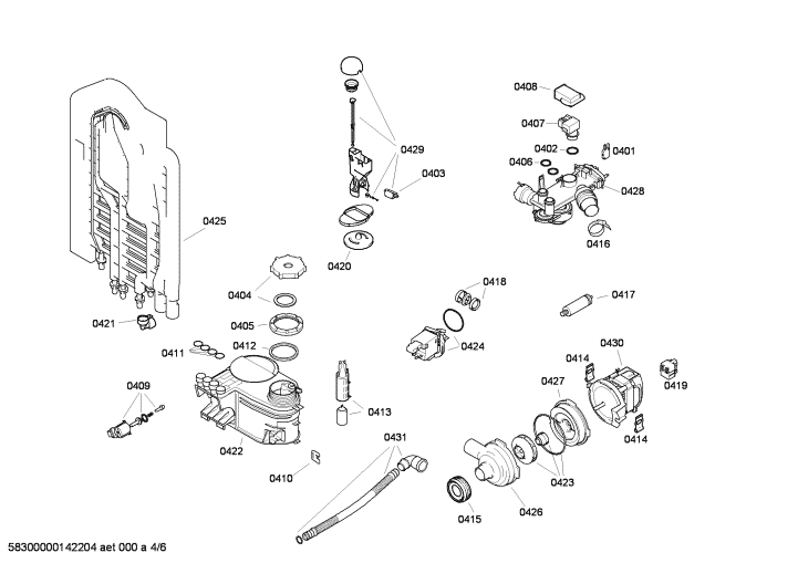 bosch classixx dishwasher sgs45c02gb11 exploded diagram