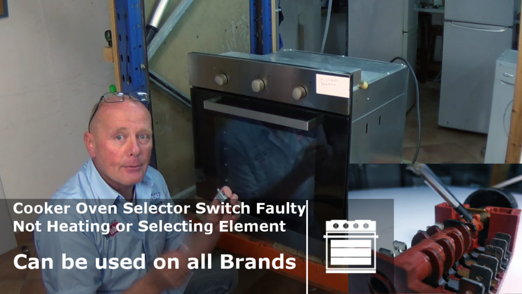 Oven function selector switch  troubleshooting     wiring      Fitting
