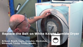 Replace the Belt on White Kniight Tumble Dryer & some Bosch, Caple, Crosslee, Electrolux, Kenwood, Tricity, Tricity Bendix,