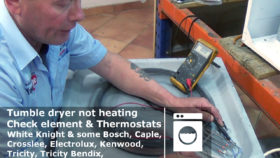 Tumble dryer not heating Check element & Thermostats white Kinght etc