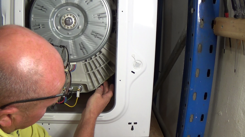 how to fix a hole in washing machine drum